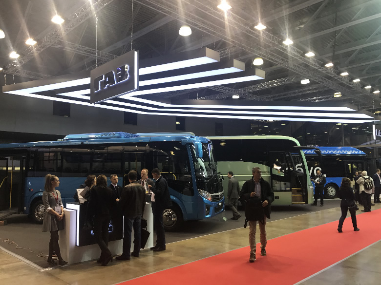 Стенд ГАЗ и ЛИАЗ на выставке BusWorld 2018